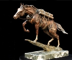 """An Uphill Battle"" - SSgt Reckless bronze Maquette fully loaded"