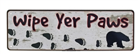Wipe Yer Paws Mini Tin Sign