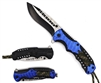 32185Bl Blue Assisted Open Knife