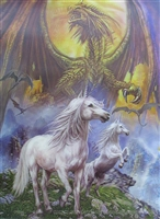 105 3D Lenticular Picture Dragon with Unicorns