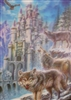 296 3D Lenticular Picture Wolf with Castle 296