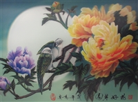 181 3d bird with flowers on tree 2a2027