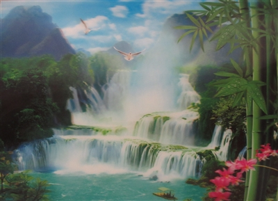 200 3d waterfall with boat 2a1006