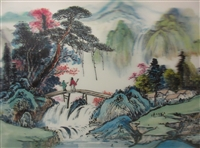 216 3D old china scene 2a1025