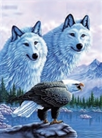 252 3d 2 wolf with eagle