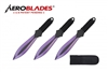 "6.75"" Set of 2 Purple Throwing Knives"