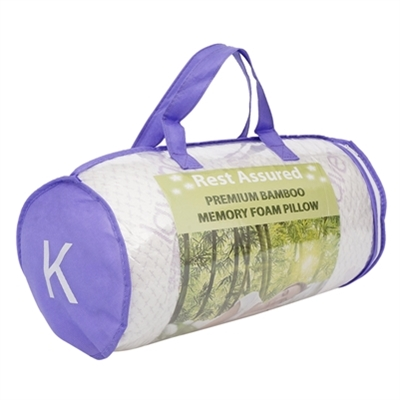 1 KING BAMBOO MEMORY FOAM PILLOW Lavender