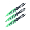 "6.5"" Green Spider throwing knives set of 3"