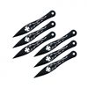 "5.5"" Set of 6 Iron Cross Throwing Knives"