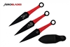 "6.5"" Set of 3 Black Dragon Kunai Knives"