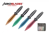 "7.5"" Set of 4 Assorted Color Throwing Knives"