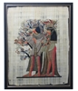Three women with fragrance cones at Tree of Life Framed Papyrus #14