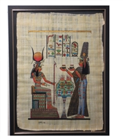 Nefertari brings offerings to Isis Framed Papyrus #16