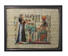 Nefertari making offerings to Hathor Framed Papyrus #27
