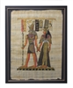 Horus escorting Nefertiti Framed Papyrus #33