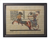 Ramses II on Chariot at Battle of Kadesh Framed Papyrus #34