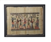 Hathor offers necklace to Amun, Anubus, Horus ordains Ramses II, Nefertari offering to Anuket Framed Papyrus #38