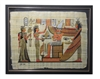 Nefertiti and Isis before Osiris and Winged Nephthys Framed Papyrus #44