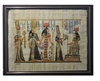 Nefertari presented by Isis to Hathor (glitter) Framed Papyrus #47