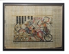 Ramses II on Chariot at Battle of Kadesh Framed Papyrus #48