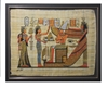 Nefertiti and Isis before Osiris and Winged Nephthys (glitter) Framed Papyrus #59
