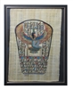 Winged Isis kneeling Framed Papyrus #61