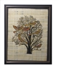 Birds in Acacia Tree- Tomb of Khnumhotep III (glitter) Framed Papyrus #63