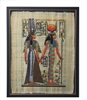 Nerfertari escorted by Isis Framed Papyrus #69