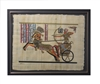 Ramses II on Chariot at Battle of Kadesh (glitter) Framed Papyrus #71