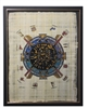 Temple of Dendera Zodiac (glitter) Framed Papyrus #75