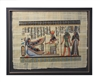Ma'at before Hathor, Horus escorting Nefertari Framed Papyrus #77