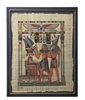 Hourmoheb stands before Osiris and Horus Framed Papyrus #8