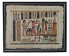 Art of the gods Hand painted egyptian art on papyrus