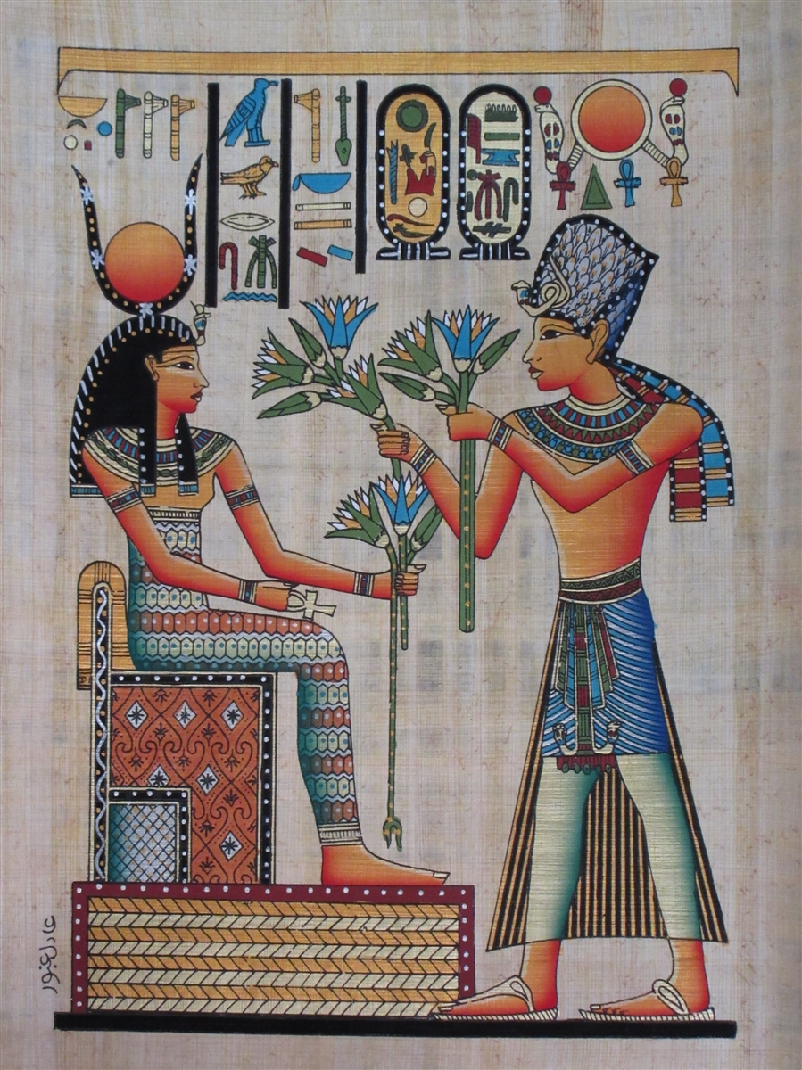 Contemporary Artist Revives Ancient Egyptian Art ... |Egyptian Art Paintings