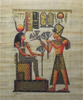 #10 Ramses II presenting Hathor with flowers (glitter) Papyrus