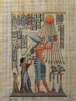 #12 Aten blessing Ankhenaten, Nefertiti, and daughter Papyrus