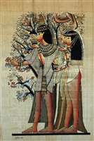 #14 Three women with fragrance cones at Tree of Life Papyrus