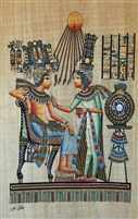 #15 Aten shining down on Ankhenaten and Nefertiti Papyrus