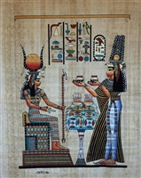 #16 Nefertari brings offerings to Isis Papyrus