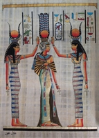 #2 Nefertari blessed by Isis and Hathor Papyrus