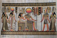 #20 Nefertari brought by Hathor and Horus to Ra and Imentet Papyrus