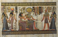 #21 Nefertari brought by Hathor and Horus to Ra and Imentet (glitter) Papyrus