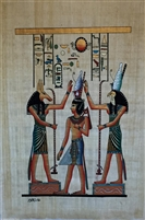 #4 Seth and Horus attending to Hatum in Pshent Papyrus