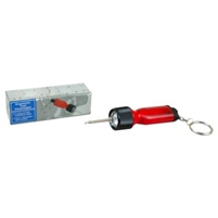 Black Flashlight with Key Chain