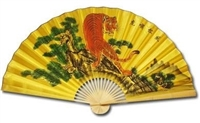 D13037 Orange Tiger Decorative Wall Fans 3' x 5'