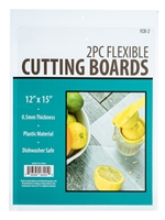 "FCB-2 2Pc Set- Flexible Cutting Boards Dimensions: 12"" x 15"""