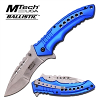 MT-A866BL Blue Handle with Gray Blade Assisted Opening Knife