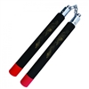"12"" Foam Black Nunchaku With Red Tips And Gold Dragon Print With Metal Chain Link"