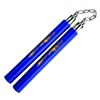 "12"" Blue Foam Nunchaku With Gold Dragon Print And Metal Chain Link nunchuck"