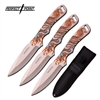 "3PC. PERFECT POINT PP-112-3SY THROWING KNIFE SET 8"" OVERALL"